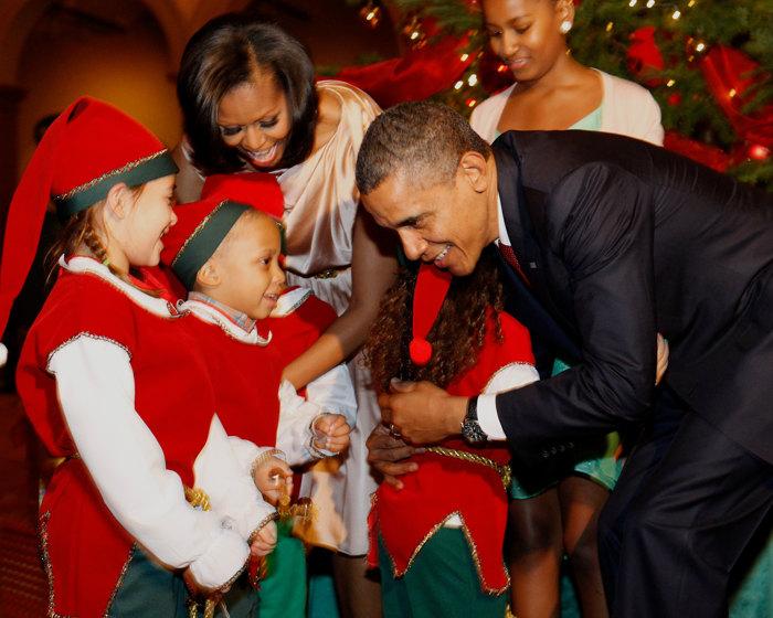 Обама с семьёй посетил концерт «Рождество в Вашингтоне». Фоторепортаж. Фото: Riley-Pool/Getty Images