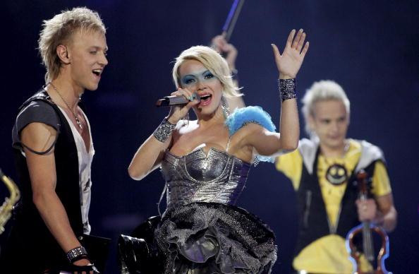 В первый день вместе с Петром Наличем на «Евровидении-2010»  выступили участники из 17 стран. Олия Тира из Молдавии. Фоторепортаж. Фото: CORNELIUS POPPE/AFP/Getty Images