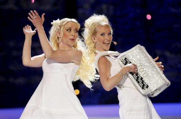 В первый день вместе с Петром Наличем на «Евровидения-2010»  выступили участники из 17 стран. Кункускаят из Финляндии. Фоторепортаж. Фото: CORNELIUS POPPE/AFP/Getty Images