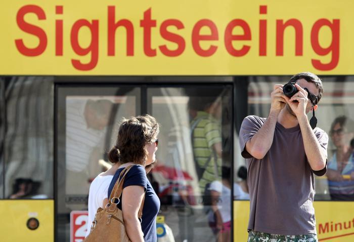 Берлин – любимый  город  туристов.  Часть 1. Фоторепортаж.  Фото: Adam Berry/Getty Images