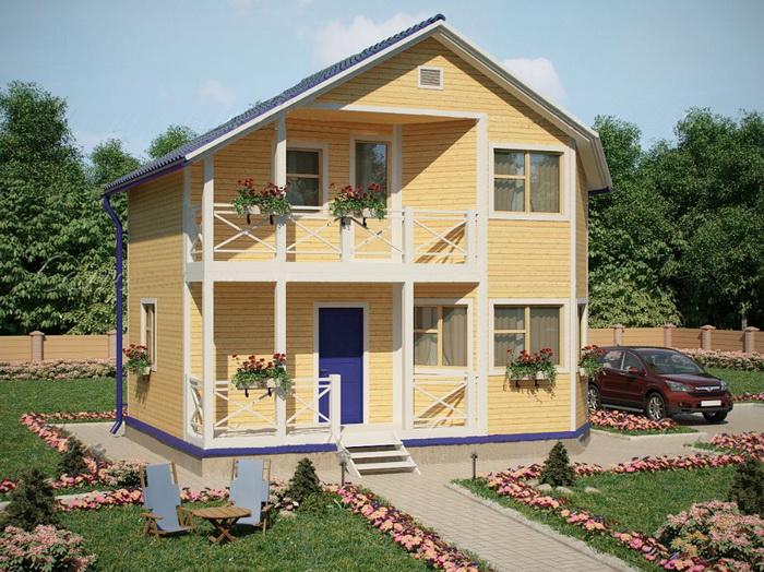 Загородные дома по каркасной технологии. Фото: intebconstruction.ru
