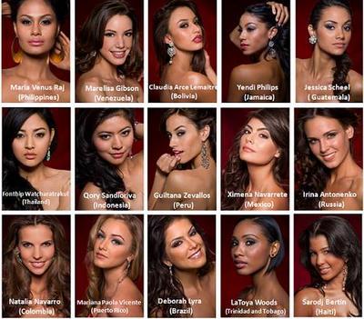 «Мисс Вселенная-2010». Участницы конкурса - претендентки на победу. Фото с сайта missuniverse2010.net