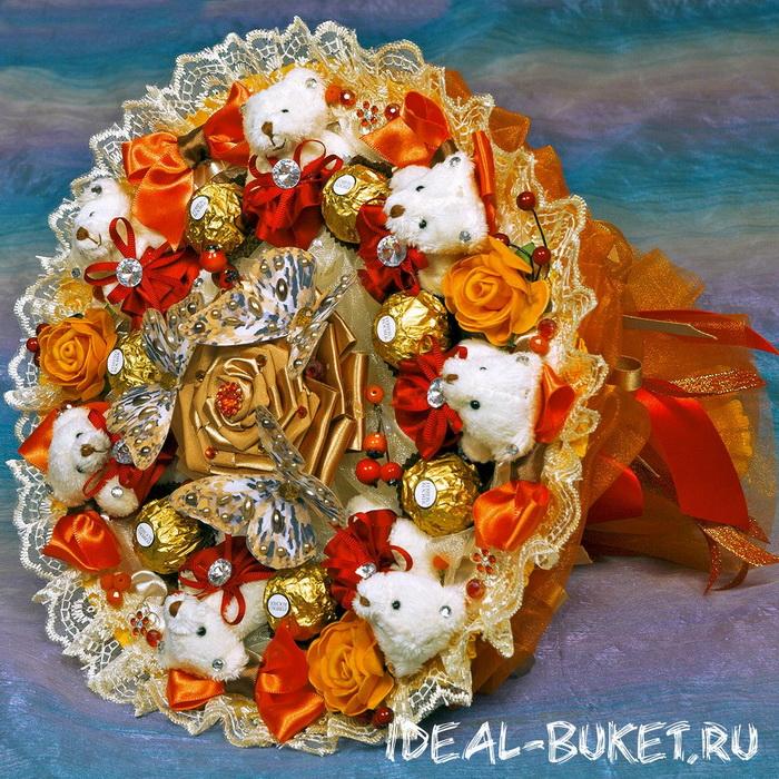 Необычный букет в подарок. Фото: ideal-buket.ru