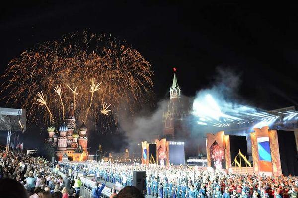 Фестиваль «Спасская башня» открывается в День города в Москве. Фото с сайта kremlin-military-tattoo.ru