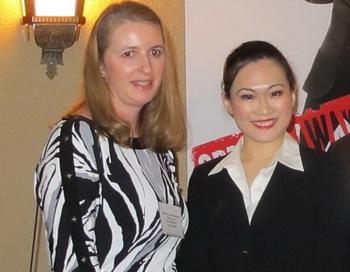 Г-жа Квинливан выступила на приеме для VIP-персон от имени Сары Лентини, президента и генерального директора Совета по искусству и культуре в большом Рочестере. Фото с сайта theepochtimes.com