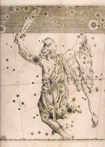 Карта Большой Медведицы из звездного атласа «Уранография» польского астронома Яна Гевелия.  Фото: WikiMedia Commons