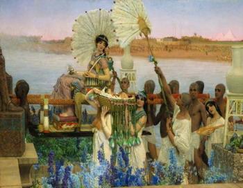 Знаменитая картина: «Нахождение Моисея» Лоренса Альма-Тадема (1836-1912). Фото с сайта  theepochtimes.com