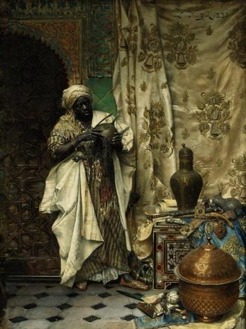 «Осмотр». Эта картина австрийского художника Людвига Деуч (1855-1935) - лучший пример его мастерства и демонстрация его завороженности Египтом. Фото с сайта  theepochtimes.com