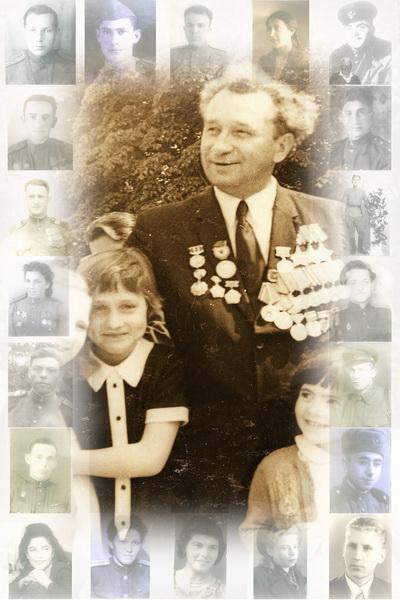 Фотоколлаж ко Дню Победы, сделанный мастером художественного фото Львом Левинзоном