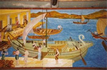 ЗАМОК СВ. ПЕТРА: фреска в Музее подводной археологии, единственном в мире такого рода музее, который располагается внутри замка. Фото: В. Рут Козак