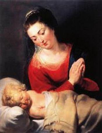 Мадонна, любующаяся своим ребенком (ARC).