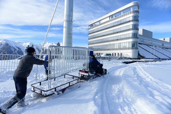 Комплекс для соревнований по лыжным гонкам и биатлону «Лаура» в Сочи, 3 февраля 2013 года. Фото: KIRILL KUDRYAVTSEV/AFP/Getty Images