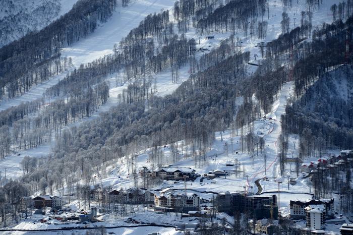 Горнолыжный курорт «Роза Хутор» в Сочи, 3 февраля 2013 года. Фото: KIRILL KUDRYAVTSEV/AFP/Getty Images