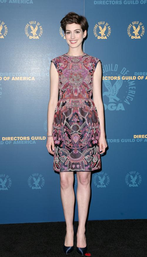Энн Хэтэуэй на вручении премии Гильдии режиссёров США 3 февраля 2013 года в Голливуде, США. Фото: Frederick M. Brown/Getty Images