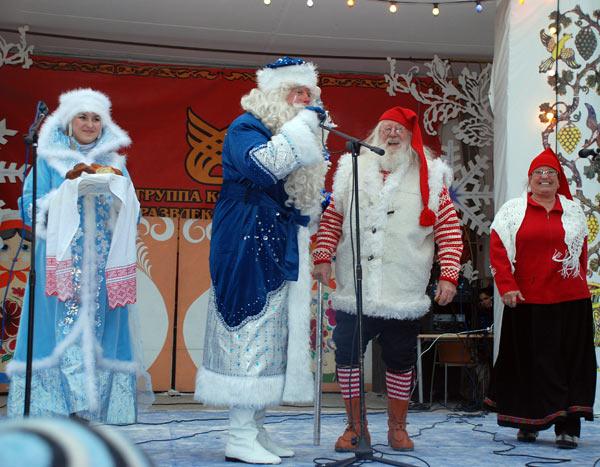 Встреча российского Деда Мороза и норвежского Юлениссена. Фоторепортаж. Фото: Юлия Цигун/Великая Эпоха (The Epoch Times)