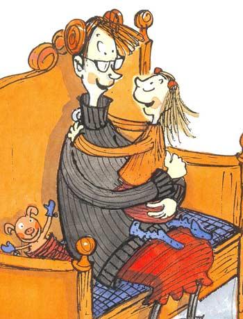 «Просто мне не всегда нравится то, что ты делаешь, но люблю я тебя всегда», - говорит мама. Веста-Линнея кивает. Вот и у нее тоже самое: «Мама, ты не всегда мне нравишься. Но люблю я тебя всегда!» Иллюстрация Саллы Саволайнен