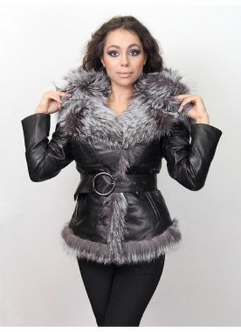 Кожаные куртки с мехом стильно и