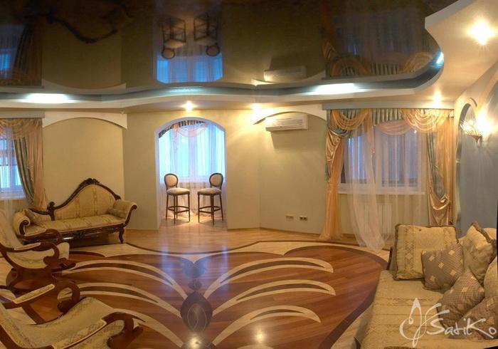 Натяжные потолки - гарантия Вашего комфорта. Фото с satiko.by