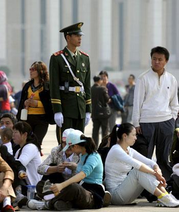 Китайская полиция всегда начеку. Фото: Franc/AFP/Getty Images