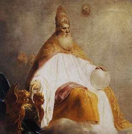 Изображение Бога-Отца. Питер де Греббер, 1654