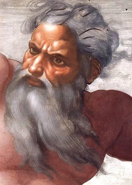 Микеланджело, «Сотворение солнца и луны», 1511