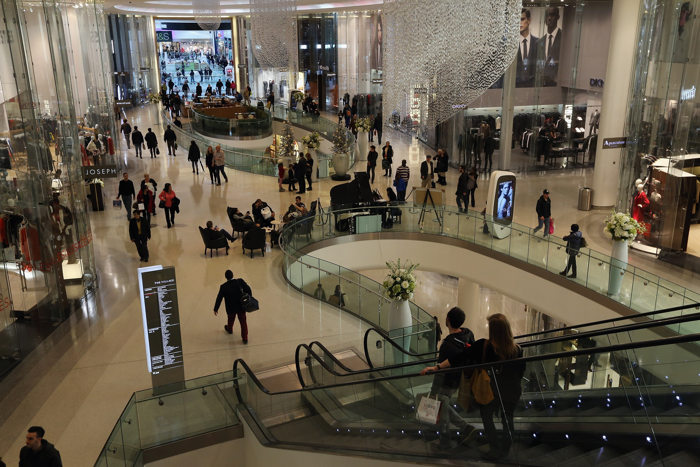В торговом центре Westfield в Лондоне.  Фото: Dan Kitwood/Getty Images