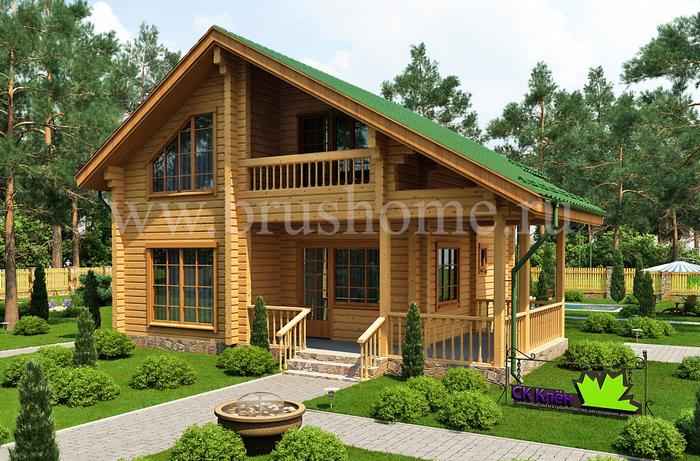 Дом из профилированного бруса. Фото с сайта brushome.ru
