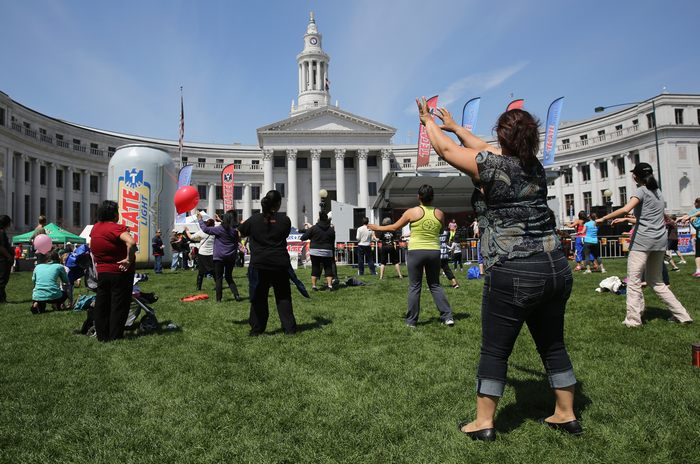 Празднование латиноамериканского фестиваля Синко де Майо началось в Денвере, столице американского штата Колорадо 4 мая 2013 г. Фото: John Moore/Getty Images