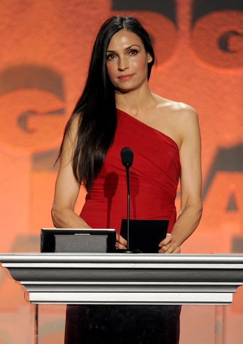 Фамке Янсен на церемонии вручения премии гильдии режиссёров США 3 февраля 2013 года в Лос-Анжелесе, США. Фото: Kevin Winter/Getty Images