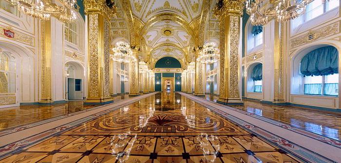 Большой Кремлёвский дворец. Андреевский зал. Фото: kremlin.ru