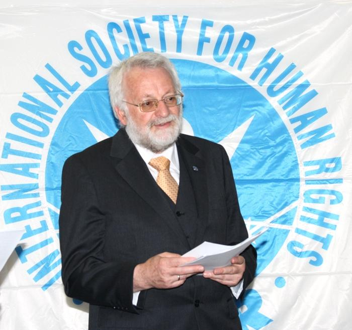 Карл Хафен - исполнительный директор Немецкой секции МОПЧ. Фото: Ульяна Ким/Великая Эпоха (The Epoch Times)