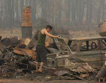 Пожары в России. Фото: ANDREY SMIRNOV/AFP/Getty Images