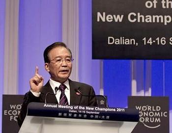 Вэнь Цзябао борется за признание Китая на мировом рынке. Фото: handelszeitung.ch