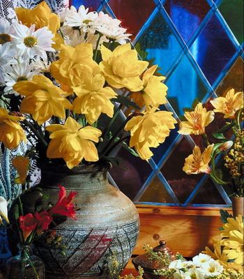 Искусно сделанные цветки и листья выглядят очень реалистично. Фото с сайта Photos.com