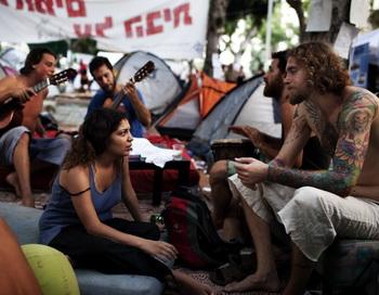 Палаточный протест в Израиле: анализ проблемы. Фото: MENAHEM KAHANA/AFP/Getty Images
