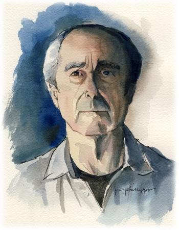 Писатель Филипп РОТ.Портрет сделан акварелью