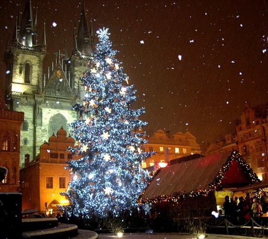 Новый год и Рождество в Чехии. Главная елка Праги на Староместской площади. Фото: Алла ЛАВРИНЕНКО/ Великая Эпоха (The Epoch Times)