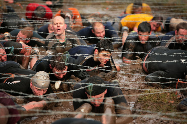 Tough Guy Challenge, февраль, 2009 г. Фото: Laurence Griffiths / Getty Images