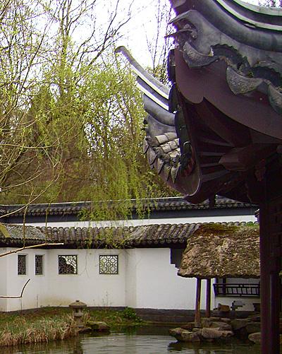 уютный уголок. Китайский сад. Ботанический сад Рурского университета Бохум. Фото: Сергей Ярош.