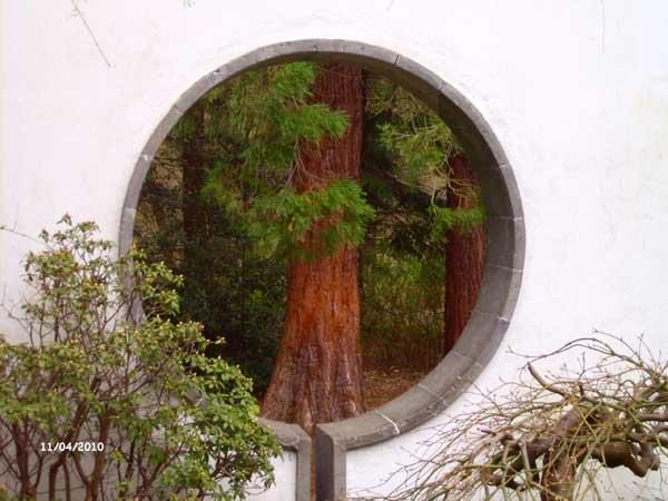 Проем в стене. Китайский сад. Ботанический сад Рурского университета Бохум. Фото: Сергей Ярош.