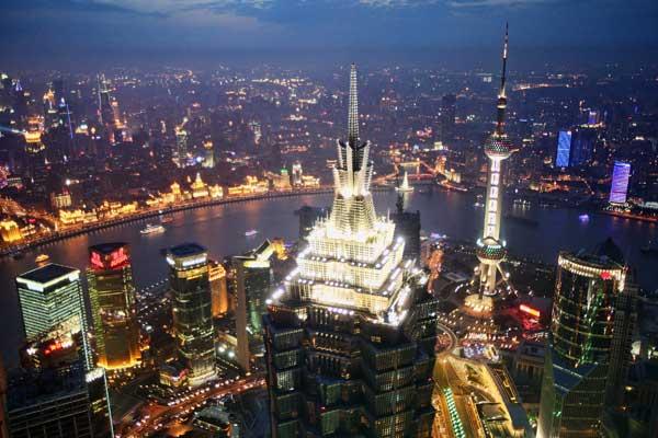 Expo 2010.  Шанхай – место проведения международных выставок.Вид с здания Финансового центра. Фото: Feng Li/Getty Images