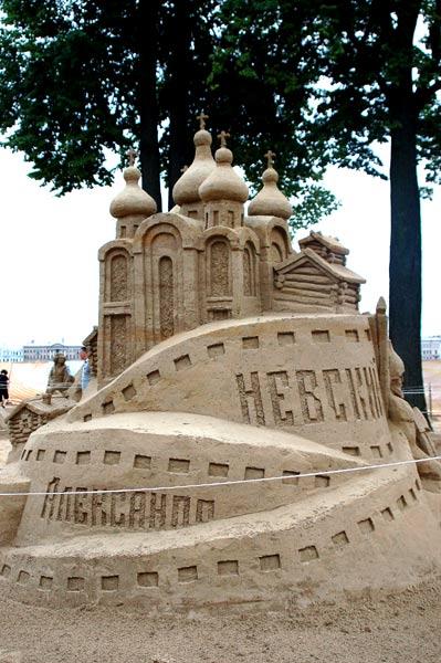 Скульптуры IX Международного фестиваля песчаных скульптур в Санкт-Петербурге. Фото: Ирина Оширова/Великая Эпоха