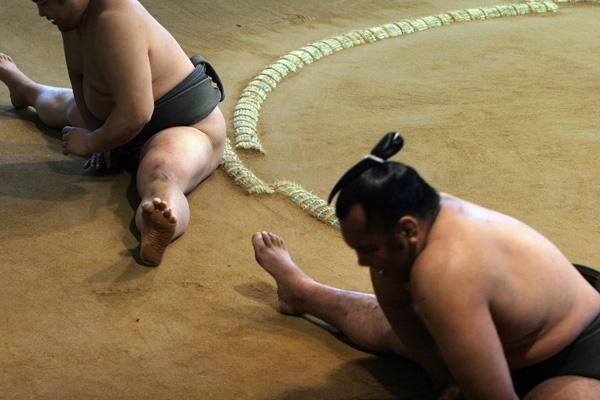 Сумо. Сумо. Тренировка сумоистов. Фото: Junko Kimura/Getty Images