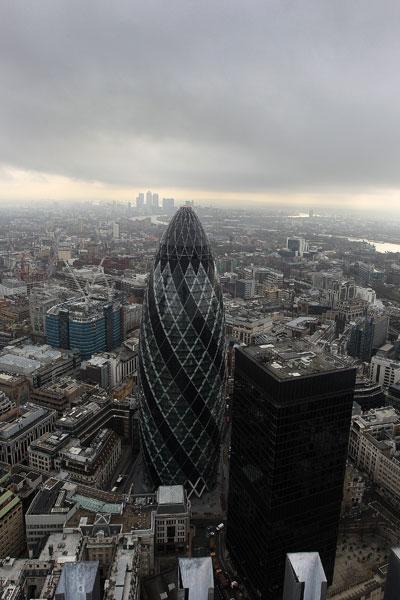 Англия. Общий вид Лондон-Сити. Великобритания.  Фото:  Dan Kitwood/Getty Images