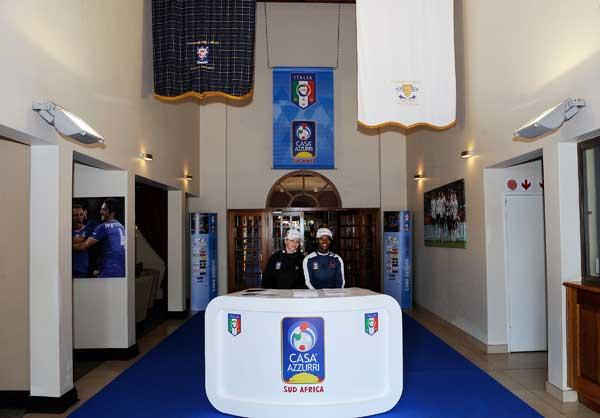 Интерьер Casa Azzurri во время Чемпионата мира ФИФА 2010 г. в Южной Африке. Фото: Giuseppe Bellini/Getty Images