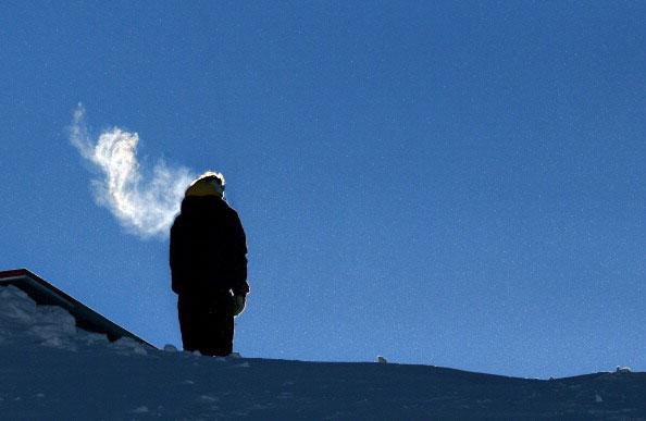 Горы в снегу. Фото: FRANCK FIFE/AFP/Getty Images