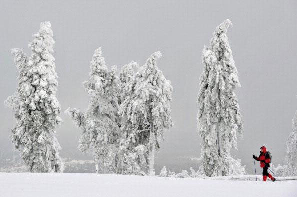 Горы в снегу. Фото: BORIS ROESSLER/AFP/Getty Images