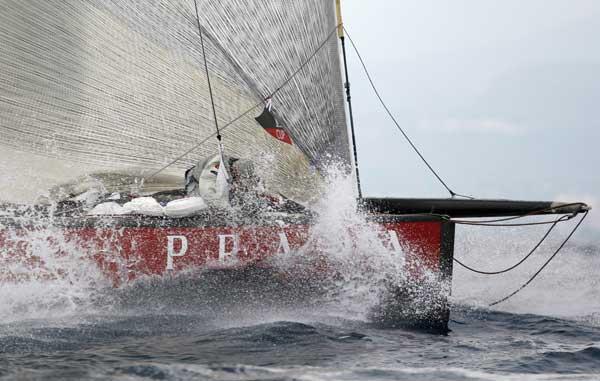 Яхты, как «морские бабочки» на водной глади океана. Фото: PHILIPPE DESMAZES/AFP/Getty Images