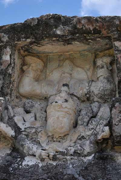 Изображение спускающегося с неба бога. Тулум, древний город цивилизации майя. Фото: CRIS BOURONCLE/AFP/Getty Images