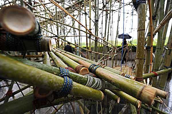Нью-Йорк. Строительство «Большого Bamb» в Центральном парке. Детали. Фото: STAN HONDA/AFP/Getty Images
